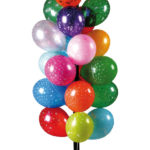 Arbre à ballons et tiges en plastique