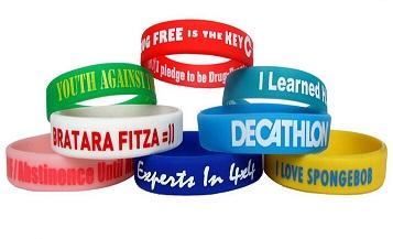 Les options pour les bracelets silicone personnalisables